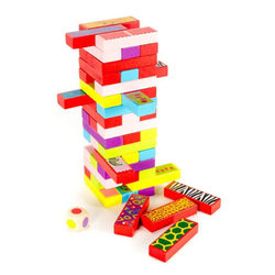 3 játék 1-ben (jenga, dominó, memória)
