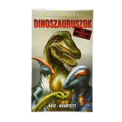Dinoszauruszok kvíz kvartett kártyajáték