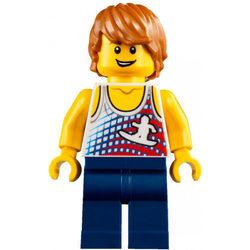LEGO® Minifigura Strandoló fiú trikóban