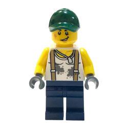 LEGO® Minifigura Szerelő zöld sapkában