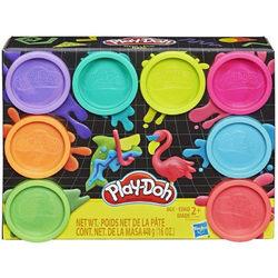 Play-Doh 8 db-os tégelyes gyurmakészlet - Neon színek