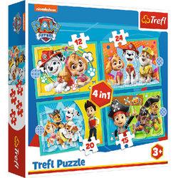 Trefl ancs őrjárat - Boldog csapat 4 az 1-ben puzzle