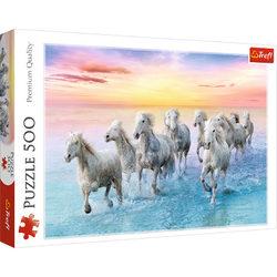 Trefl Vágtázó fehér lovak 500 db-os puzzle