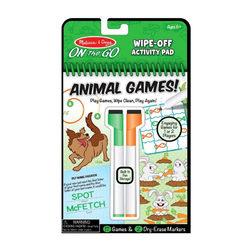 Melissa & Doug Letörölhető lapok, állati játékok