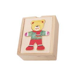 Fa öltöztethető mini maci fiú