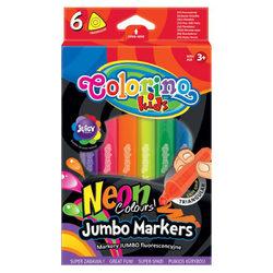 Colorino Kids 6 db-os neon vastag filctollkészlet