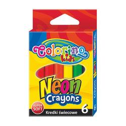 Colorino Kids 6 db-os neon színű zsírkréta készlet