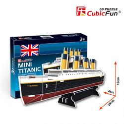 CubicFun 3D Mini puzzle Titanic 30 db-os