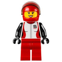 LEGO® City Minifigura Autóversenyző lány