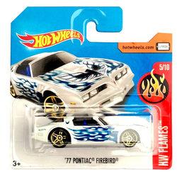 Hot Wheels Flames '77 Pontiac Firebird kisautó kék lángokkal