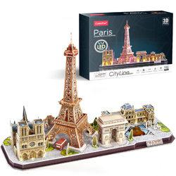 CubicFun 3D LED Puzzle - City Line Párizs 115 db-os