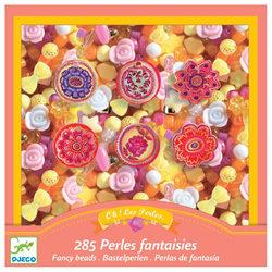 Gyöngykészlet virágos gyöngyökkel és medálokkal
