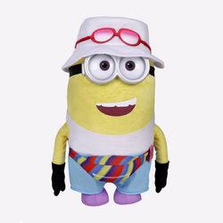 Plüss Minions - Túrista Jerry fehér kalapban 25 cm