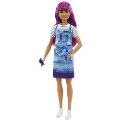Barbie Karrier baba - lila hajú fodrász