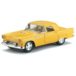 Kinsmart 1955 Ford Thunderbird kisautó - sárga
