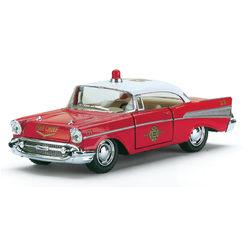 Kinsmart 1957 Chevrolet Bel Air tűzoltóparancsnoki kisautó