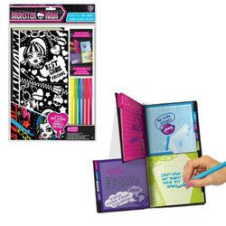 Monster High bársony füzet filctollal