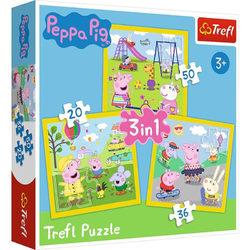 Trefl Peppa malac - Játékidő 3 az 1-ben puzzle