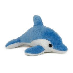 Plüss delfin 13 cm-es kék színű