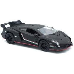 Kinsmart Lamborghini Veneno kisautó - matt fekete