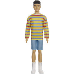 Barbie Fashionistas - Ken baba csíkos pólóban