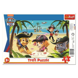 Trefl Mancs őrjárat keretes puzzle 15 db-os