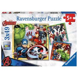 Ravensburger Marvel hősök 3 x 49 db-os puzzle
