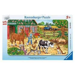 Ravensburger Tanyasi élet 15 db-os keretes puzzle