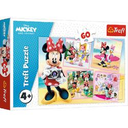 Trefl Minnie egér a fotós 60 db-os puzzle