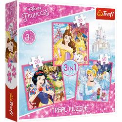 Trefl Disney hercegnők 3 az 1-ben puzzle
