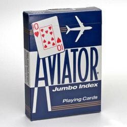 Bicycle Aviator Jumbo Index kártya - kék