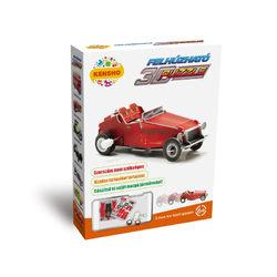 Felhúzható 3D puzzle piros oldtimer