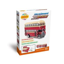 Felhúzható 3D puzzle emeletes busz