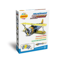 Felhúzható 3D puzzle kétfedelű vadászgép