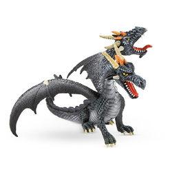Bullyland 75597 Kétfejű sárkány, fekete