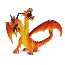 Bullyland 75598 Kétfejű sárkány, narancs