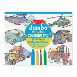 Melissa & Doug Jumbo színező, járművek